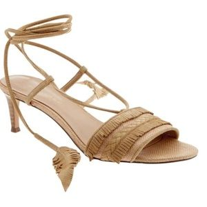 Banana Republic (kitten heel) Ankle Wrap Sandals